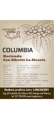 """Columbia Hacienda San Alberto """"LA ALSACIA"""" 250g"""